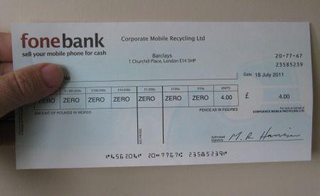 Fonebank Cheque