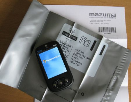 Packaging our phone for Mazuma Mobile